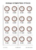 Telling Time Resources:  O'Clocks Analogue & Digital Flashcards & Posters