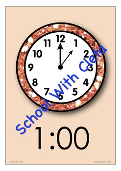 STOBOK Telling Time Flash Cards Pocket Flash Cards Practice Reading Clock Educational Learning Toys for Kids Reading Clocks