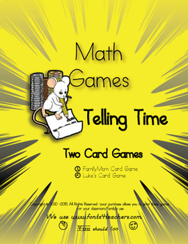 Telling Time Review FamilyMom and Luke's Card Game