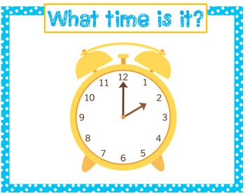 Telling Time Review Powerpoints