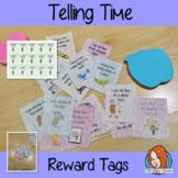 Telling Time Reward Tags