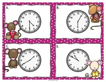 Telling Time Roam the Room with Mouse Friends