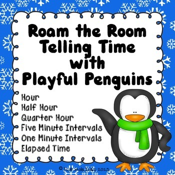 Telling Time Roam the Room with Playful Penguins