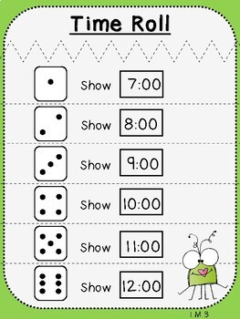 Telling Time Roll (First Grade, 1.MD.3)
