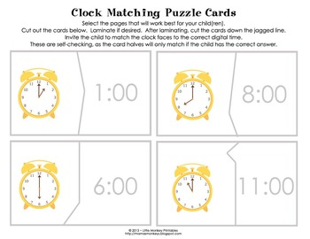 Telling Time - Roll & Write Activities and Worksheets
