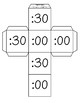 Telling Time Roll a Dice Math Station