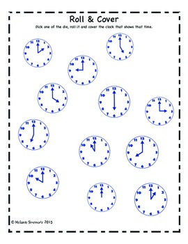 Telling Time Roll and Cover