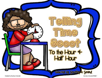 Telling Time SCOOT (Hour & Half Hour) with Self-Checking QR Codes