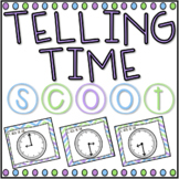 Telling Time SCOOT! Game, Task Cards or Assessment