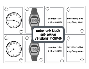 Telling Time SPOONS Game - 15 Minute