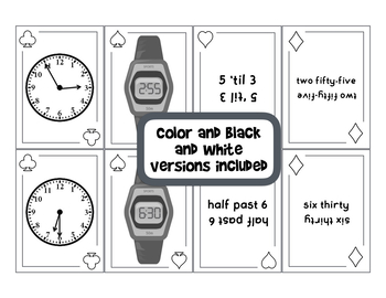 Telling Time SPOONS Game - 5 Minute