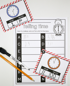 Telling Time STEM Challenges