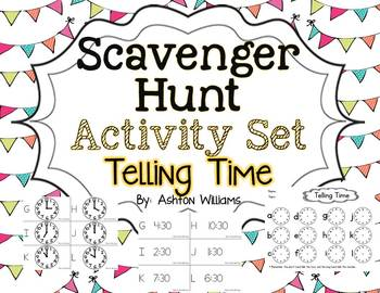 Telling Time Scavenger Hunt Activity
