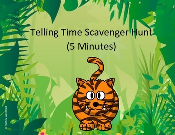 Telling Time Scavenger Hunt (To 5 Minutes) QR Codes