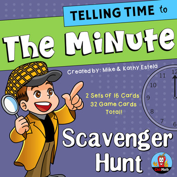 Telling Time to the Minute {Scavenger Hunt Activity}