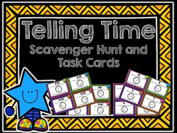 Telling Time Scavenger Hunt and Task Cards