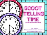Telling Time Scoot! (Hour and Half Hour)