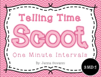 Telling Time Scoot, One Minute Intervals: 3.MD.1