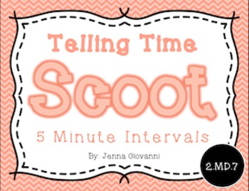 Telling Time Scoot, 5 Minute Intervals: 2.MD.7