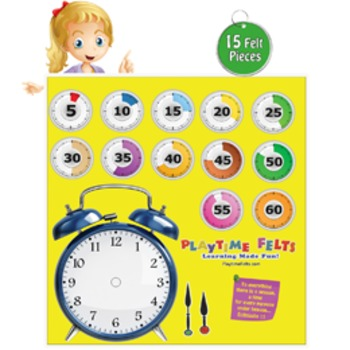 Telling Time: Seconds, Minutes & Hours Felt Board Activity Set