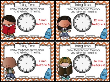 Telling Time {Set of 48 Task Cards}