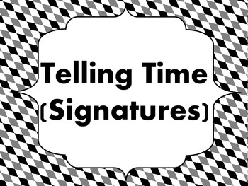 Telling Time (Signatures): Teaching Aid for Reading Time Signtaure