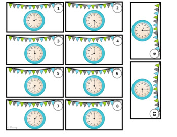 Telling Time Game (Hour and Half Hour)