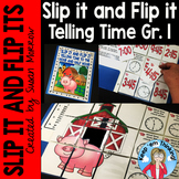Telling Time Self Checking Math Puzzles: Slip it and Flip