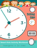 Telling Time Smart Kids Activity workbook for kindergarten