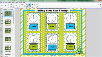 Telling Time Smartboard Flash Cards