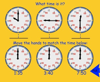 Telling Time: Smartboard Interactive file