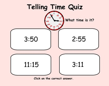 Telling Time Smartboard Lesson Free Preview