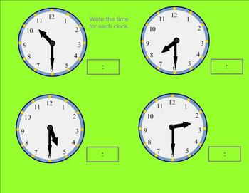Telling Time Smartboard Practice