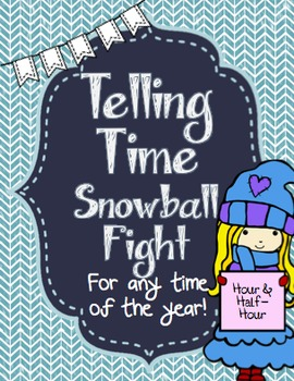 Telling Time Snowball Fight!