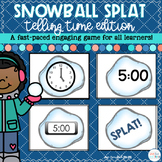 Telling Time Game Snowball SPLAT! | Distance Learning