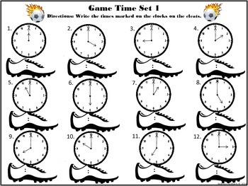 Telling Time Soccer