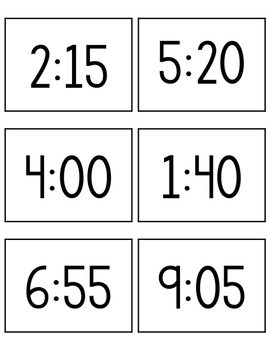 Telling Time Sort: Analog Clock, Digital Clock, Written Time by The ...