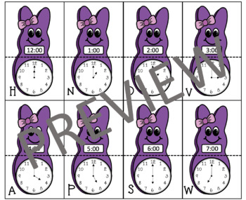 Telling Time Worksheets and Activity Sort and Match