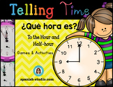 Telling Time in Spanish (Hour and Half-hour)