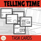 Telling Time Spanish Task Cards