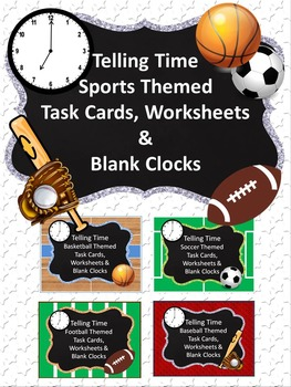 Telling Time Sports Themed Bundle