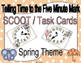 Telling Time Spring Clock Scoot to the Nearest Five Minute Mark