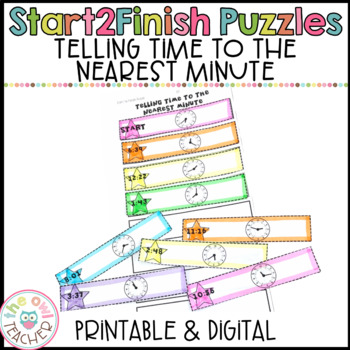 Telling Time Start2Finish Math Puzzles
