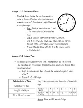 Telling Time Study Guide