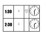 Telling Time Task Boxes half hour