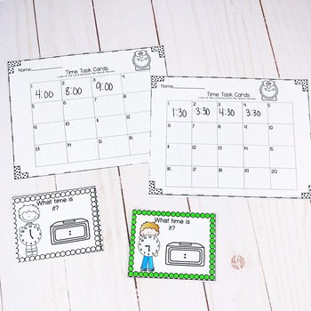 Time Task Cards- Hour and Half Hour