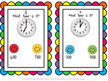 Telling Time Task Cards 1.MD.3