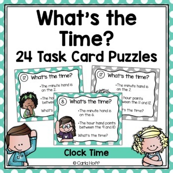 Telling Time Task Cards - 2 Skill Levels