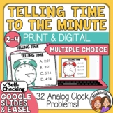 Telling Time Task Cards 32 Multiple Choice Cards to the Minute