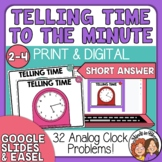 Telling Time Task Cards  to the Minute
